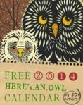 Free Download  2014 Owl Calendar