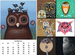 Free Owl Calendar 2014