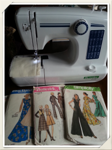 Sewing machine and vintage patterns